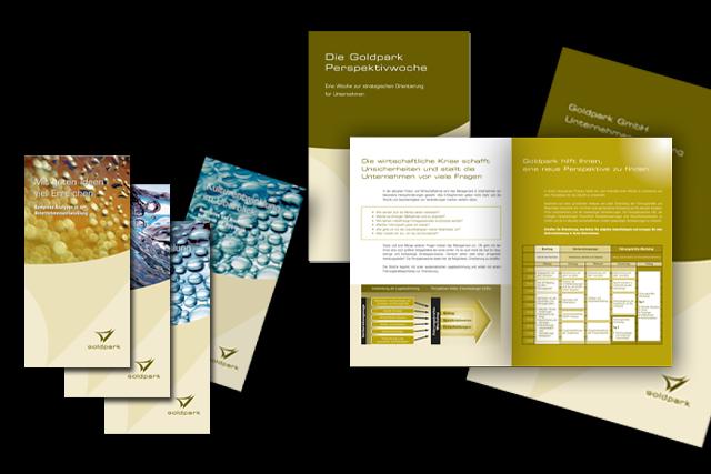Gestaltung von Flyern und Broschüren für Unternehmensberatung