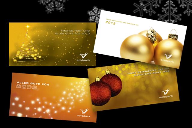 Weihnachtskarten, Konzept, Design und Produktion