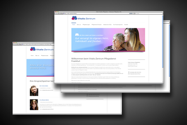 Webdesign Homepage Pflegedienst in Frankfurt
