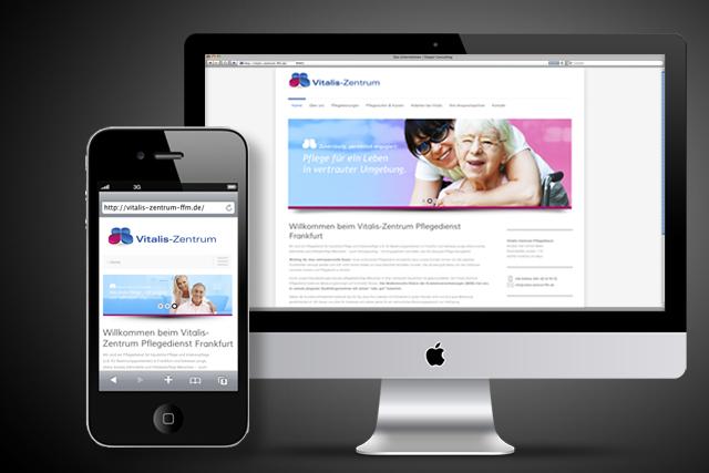 Internetseite für ambulante Pflegedienste