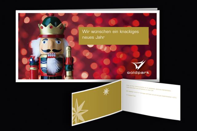 Weihnachtskarten für die Goldpark Unternehmensberatung im neuen Design