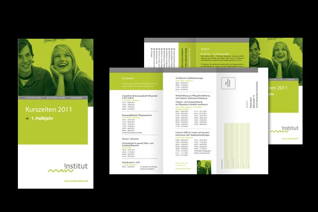 Branding: Broschüren und Folder für Weiterbildungs-Angebote