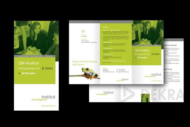Info-Flyer für Weiterbildungs-Angebote