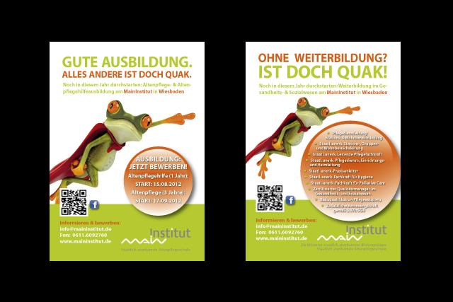Plakate für Werbekampagne in Bus und Bahn sowie Plakatierung in Schulen