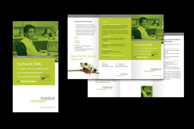 Branding: Konzept für Info-Folder für Weiterbildungs-Maßnahmen