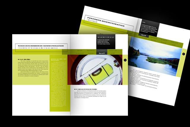 Konzept für Imagebroschüre für Training Coaching Seminare (Weiterbildung)