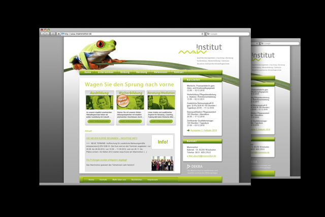 Webdesign: Die neue Website für Anbieter von Aus- und Weiterbildungs-Maßnahmen