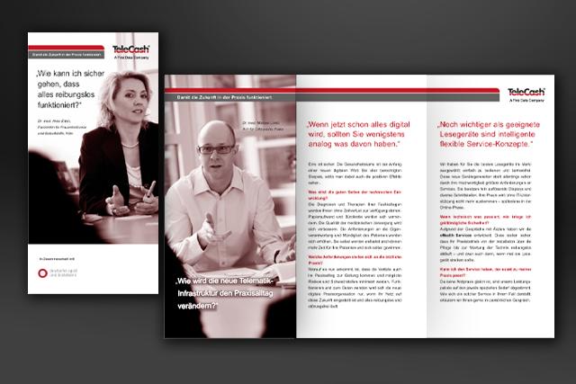 Dialog-Marketing Folder im Bereich E-Health für E-Commerce und Bezahlsysteme