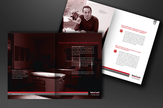 Dialog-Marketing-Imagebroschüre im Bereich E-Health zur Positionierung von E-Commerce und Bezahlsysteme