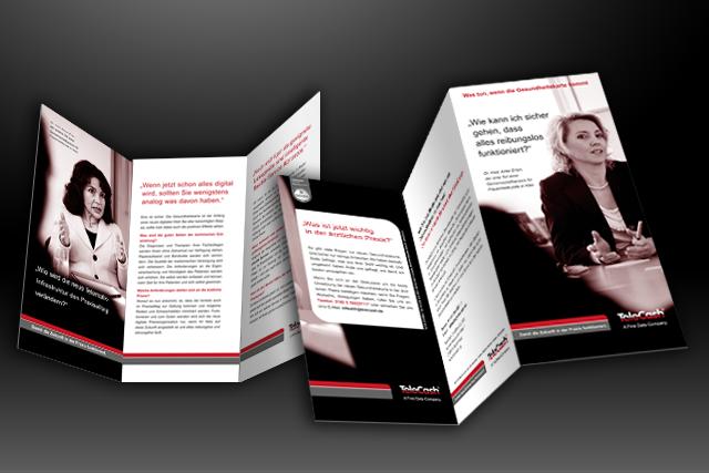 Dialog-Marketing Imagefolder im Bereich E-Health für E-Commerce und Bezahlsysteme