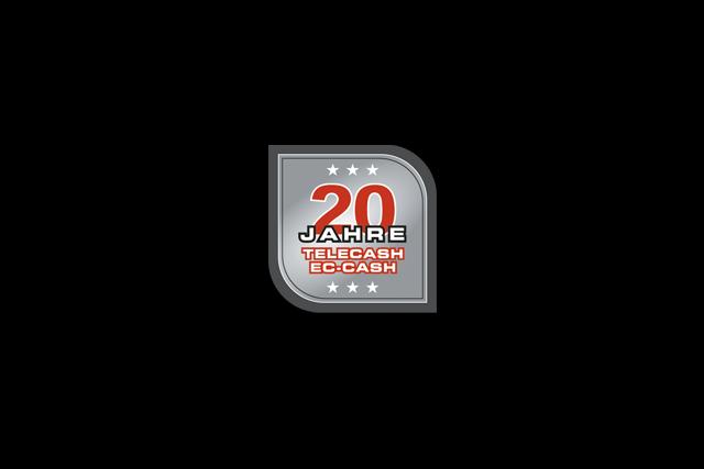 Logo der Imagekampagne / Jubiläumskampagne zum 20-jährigen Bestehen der TeleCash