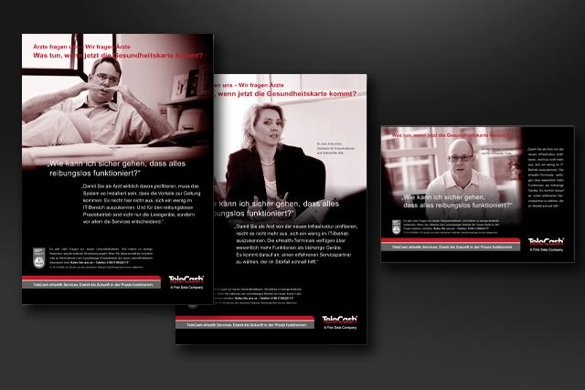Kampagnen-Motive der Image-Anzeigen im Bereich E-Health für E-Commerce und Bezahlsysteme