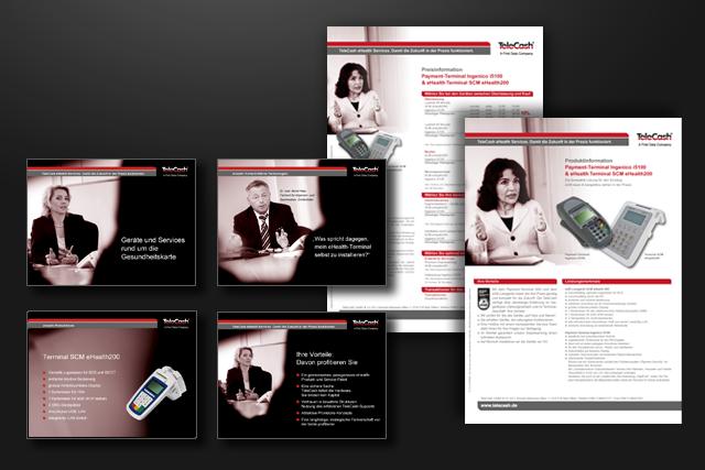 Online-Präsentationen und Produktblätter für E-Health und E-Commerce und Bezahlsysteme