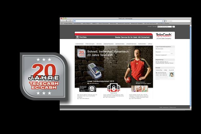 Logo der Imagekampagne auf der Website von TeleCash
